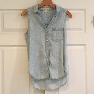 CLOTH & STONE Tencel Sleeveless Button Down XS